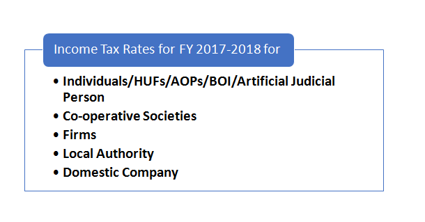 income tax rates for FY 2017-18